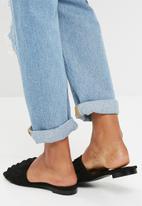 Missguided - Frill slip on sandal - black