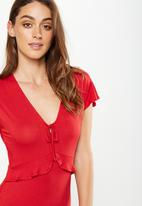 Cotton On - Rhianna short sleeve frill dress