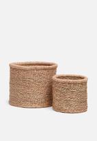 Grey Gardens - All natural basket