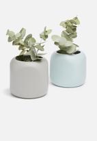 Grey Gardens - Pencil tealight holder set of  2