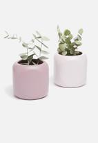 Grey Gardens - Pencil tealight vase set of 2