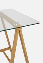Eleven Past - Glass trestle table