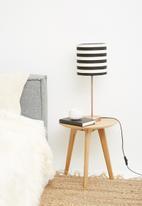 Sixth Floor - Upright table lamp set - black & white