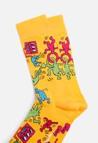 Happy Socks - Keith Haring all over Socks