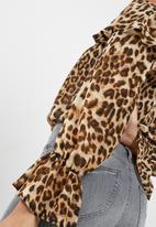 dailyfriday - Printed off the shoulder twofer bodysuit
