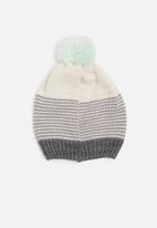 dailyfriday - Striped pom-pom beanie