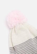 dailyfriday - Striped pom-pom beanie