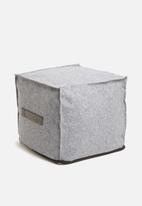 Sixth Floor - Felt cube ottoman