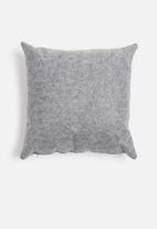 Sixth Floor - Felt pop cushion - grey & duck egg