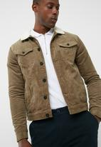Only & Sons - Sherpa Lined Corduroy Trucker Jacket