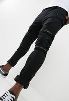 basicthread - Zav skinny biker with knee zip