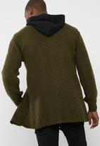 basicthread - Chunky buttonless cardi knit