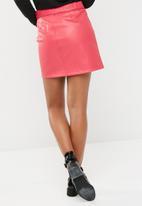 Vero Moda - Tie pu skirt