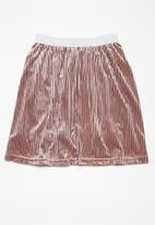 dailyfriday - Velvet pleated midi skirt