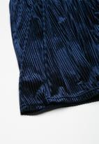 dailyfriday - Velvet pleated midi skirt