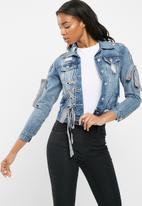 dailyfriday - Denim jacket with ribbon detail