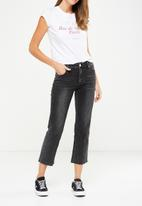 Cotton On - Mid rise straight crop stretch jean