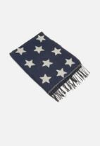 dailyfriday - Star print scarf - navy