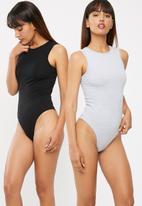 dailyfriday - Ladies 2 pack high neck bodysuit