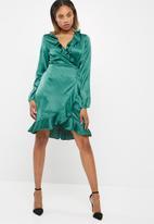Vero Moda - Henna satin wrap dress