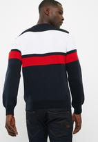 basicthread - Stripe lightweight pullover knit