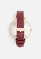 dailyfriday - Alecia watch - burgundy