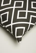 Sixth Floor - Gem cushion cover - black & white