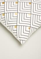 Sixth Floor - Mini chevron cushion cover - black & white