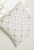 Sixth Floor - Metallic mini chevron printed cushion cover