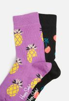 Happy Socks - Kids 2pk cherry socks