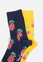 Happy Socks - Kids 2pk cherry socks