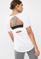 dailyfriday - Solid tee with mesh