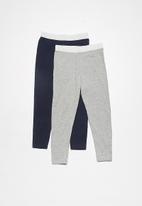 dailyfriday - Kids 2pk leggings (lurex waist band)