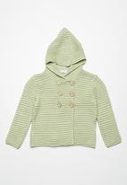 dailyfriday - Double breasted hoodie cardigan