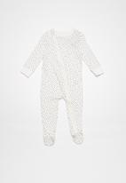 Cotton On - Baby mini zip footed romper