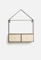 Present Time - House wall cabinet - black