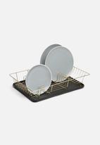 Present Time - Linea dish rack - gold & matt black