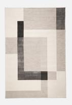 Hertex Fabrics - Block party mist indoor/outdoor rug