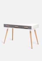 Sixth Floor - Alva desk - grey & white