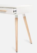Sixth Floor - Alva desk - white & natural