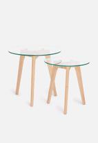 Sixth Floor - Alva nesting tables - glass