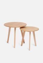 Sixth Floor - Alva nesting tables - wood