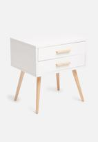 Sixth Floor - Alva pedestal - white & natural