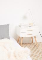 Sixth Floor - Alva pedestal - white & natural