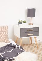 Sixth Floor - Alva pedestal - white & grey