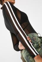 Missguided - Binding stripe mesh bodysuit