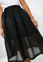 dailyfriday - Bonded airtech pleated midi skirt