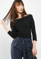 Cotton On - Everyday 3/4 sleeve boat neck top