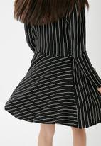 New Look - Stripe twist front mini dress