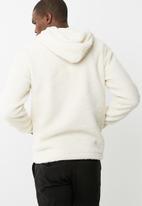 Jack & Jones - Sherpa 1/4 zip hoodie